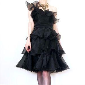 BETSEY JOHNSON Asymmetrical One Shoulder DRESS